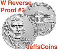 2020 W Jefferson Nickel West Point US Mint REVERSE Proof Set Nickle 5¢ # 2 of 3