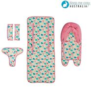 Keep Me Cosy® Pram Liner + Head Support + Harness & Buckle Cosy - Flamingo