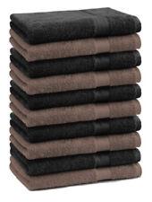 Betz 10 Toallas para invitados PREMIUM 100% algodón 30x50cm en nuez y negro