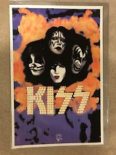 """1995 Kiss Black Lite Poster """"You Wanted The Best You Got The Best"""" Kiss Make Up"""