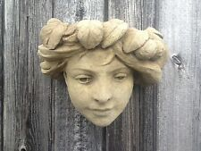 Art Nouveau Head Wall Planter Garden Ornament Latex Only Mould PRICE TO CLEAR!