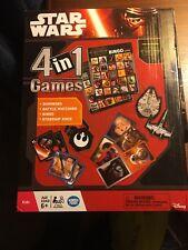 Disney Star Wars The Force Awakens 4-In-1 Games ~Starship Race, Dominoes, Bingo