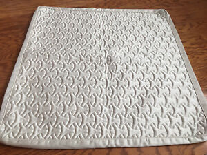2 Hotel Collection Cotton Poly Quilted EURO Pillow Shams - Champagne Colored