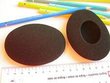 2 Ohrpolster Schaumstoff  97x75 mm oval für HD470 HD 470 HD-470 Headmax