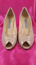 Evan-Picone Tan Peep Toe Pump Size 9M Elite Heel Made in Spain Make me an offer!