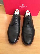 Grenson Toby Zapatos para hombres Derby Negro Cuero UK 8, RRP £ 205