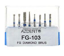 Dental Diamond FG 103 Bur 8 Pcs Kit for Cavity Preparation of Molar Teeth Burs