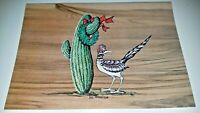 Vintage Western Theme Christmas Greeting Cards Road Runner Lot of 5 Cards