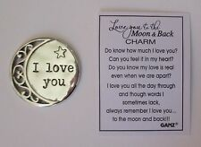 c I love you to the moon and back Pocket Token Charm ganz symbol of affection