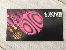 Vintage CANON Products Guide booklet - 1977 - great condition