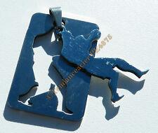 Collier Pendentif Acier Inoxydable Boxe Boxeur + Chaine