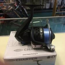 Fladen Charter 340 Fishing Reel, Fixed Spool Spinning Reel, Front Drag + Line