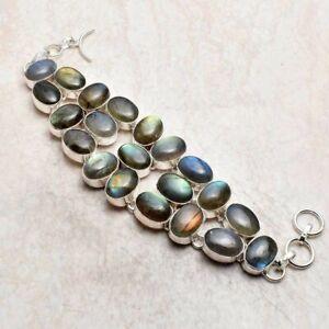 Labradorite Gemstone Handmade Big Bracelet Jewelry 56 Gms LBB 5670