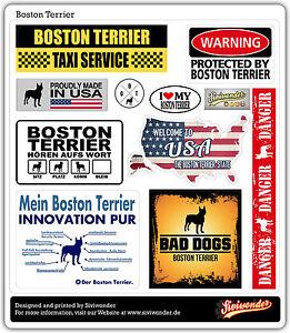 Auto Aufkleber Sticker BOSTON TERRIER COLLECTION DOG Sammlung reflex SIVIWONDER