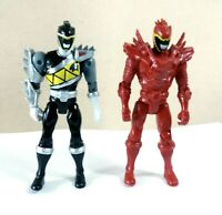 Power Rangers Dino Super Charge Dino Steel Black Ranger Plus Red Ranger Figure
