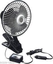 Ventilateur Jumbo Métal 12v Oscillant Diamètre 20cm, Fixation Pince