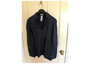 """Versace men's long sleeve casual shirt - Size """"44"""" - Cashmere - Blue - Excellent"""