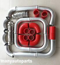 "2.5"" Aluminum Universal Intercooler Turbo Piping + hose + T-Clamp kits 12pcs Red"