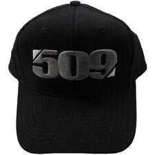 509 Divide Curved Snap Back Hat Baseball Cap - Black - 509-HAT-DBS
