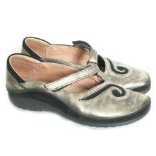 NAOT Womens Matai Gold Black Mary Jane Shoes Size 38 US7