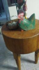 New listing Antique Round Maple Butcher Block
