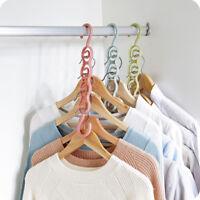 Folding Clothes Hanger Anti-skid Foldable Multifunction Hangers Hook for Balco