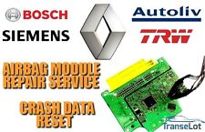 RENAULT AIRBAG ECU SRS ECU AIRBAG MODULE CRASH DATA RESET REPAIR SERVICE