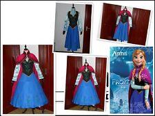Frozen Snow Queen ANNA Cosplay Costume Dress