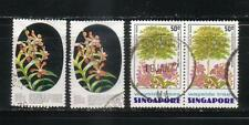 SINGAPORE 1976 SC 244 X 2  AND SC 245 X 2 WAYSIDE TREES     LOT # 4