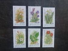MOLDOVA 1993 FLOWERS SET 6 MINT STAMPS MNH