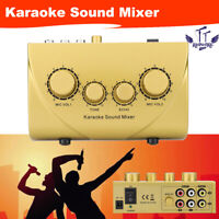 2 Channel Stereo Audio Sound Mixer Karaoke Microphone Mic Line DJ Mixing Console