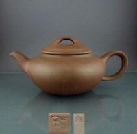 Perfekt - 20. Jhd chinesische Yixing Keramik Teekanne China Zisha Ware - Marke