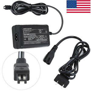 AC Adapter Wall Charger Power Supply Fo Sony Handycam HDR-CX220 B/R/S Camcorder