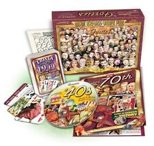 Great Birthday Gift Set: 1944 Flickback Trivia Playing Cards, 40's DVD & Puzzle