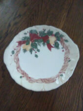 """Wedgwood Home Amway Holiday Christmas 1998 Platter Handled Plate 10"""""""