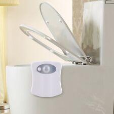 Human Motion Sensor Activated Seat LED Light BathroomToilet Bowl Lamp 8 Color