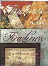 FineLines Magazine-Set of 4-Pineapple Bellpull-Issues 1-1, 1-2, 1-3, 1-4. COPIES