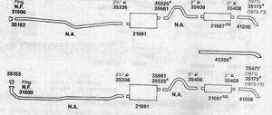 1971-1972 CHEVY BEL-AIR, CAPRICE & IMPALA DUAL EXHAUST, ALUMINIZED, 400 & 454