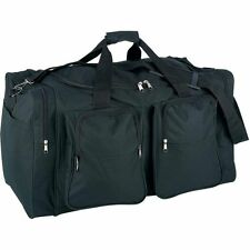"""Black 26"""" Carry-On Outdoor Duffle Bag, Waterproof Travel Luggage Suitcase"""