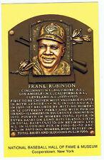 Baseball Hall of Fame Postcard Frank Robinson MVP Baltimore Orioles HOF Plaque