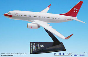 Flight Miniatures PrivatAir Swiss Airline Boeing 737-700 1:200 Scale New in Box