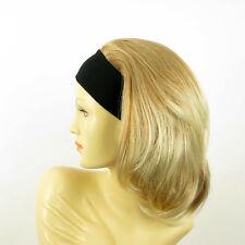 Perruque avec bandeau blond clair cuivré blond clair ref MADY en 27T613
