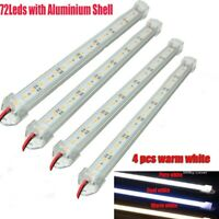 4X 12V Waterproof 5630 Led Strip Lights Bar Warm White Lamp Camping Caravan Boat