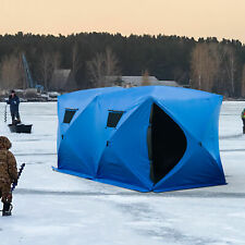 "5-8 Men Ice Fishing Shelter 142"" Pop up Portable Tent House Outdoor Carry Bag"
