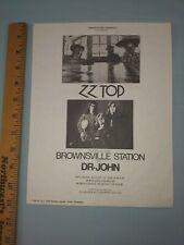 Z Z Top Concert poster 1974 Original Vintage 8 1/2 x 11 Portland Coliseum