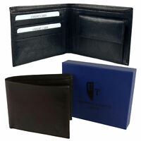 Mens Bi-Fold Leather Wallet by Underwood & Tanner; Hansson Top Quality Coin Pock
