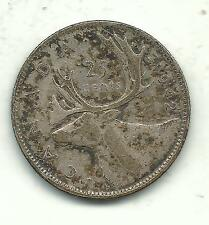HIGH GRADE XF/AU VINTAGE 1942 CANADA 25 CENTS SILVER COIN-MAY395