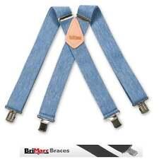 "Brimarc Mens Heavy Duty Denim Braces Trouser Belt Suspender 2"" 50mm Wide"