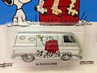 Hot Wheels Peanuts Snoopy Christmas '66 Dodge A100 Die Cast Van 2016 NIP