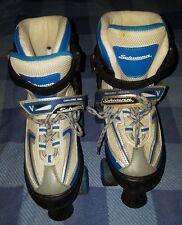 Schwinn Challenge Series Adjustable Roller Skates Black Blue Youth Sizes 5 6 7 8